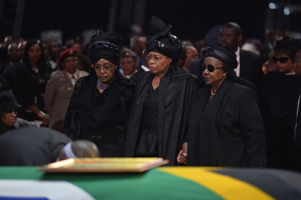 Nelson Mandela Mourners