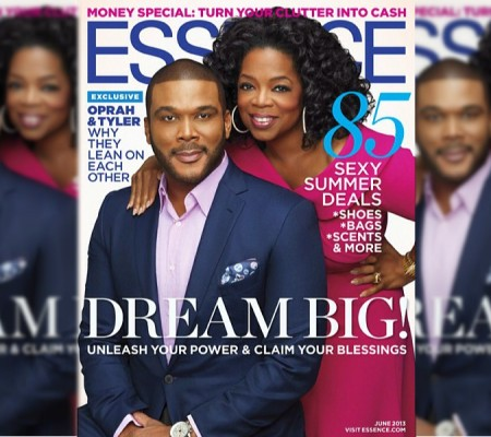 Oprah and Tyler Perry on the cover of Essence